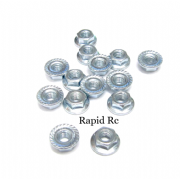 M5 Serrated Hex Nuts With Flange Bright Zinc plated